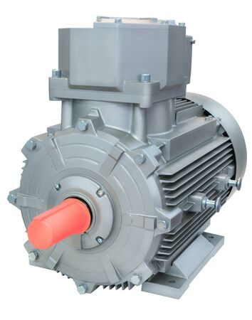 alternateur: Powerful electric motor, isolated on a white background.