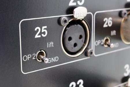 rear end: Rear of control panel active studio monitor, connection xlr conector
