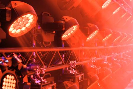 Stage lighting equipment. Stock Photo