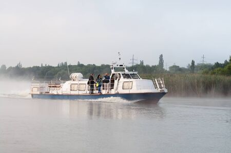 npp: Reporters sail on a pleasure boat on the reservoir of Kursk NPP Editorial
