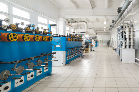 trundle: Automatic winding machine. Stock Photo