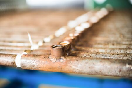 Rusty metal tubes