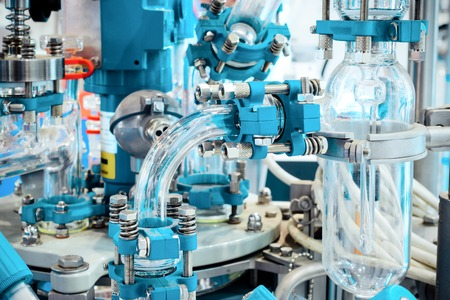 Complex chemical industrial equipment.