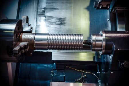 alloy: Machining of parts on a lathe.