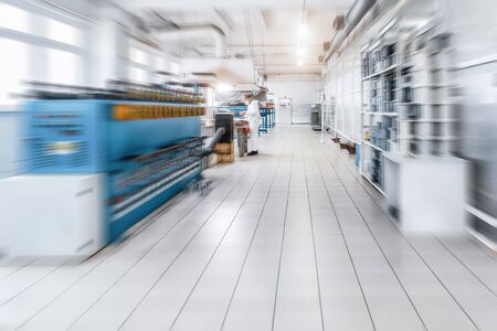 trundle: Modern production hall. Stock Photo