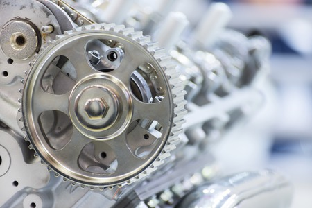 Gear of drive of a gas-distributing mechanism of the automobile engine Stock Photo