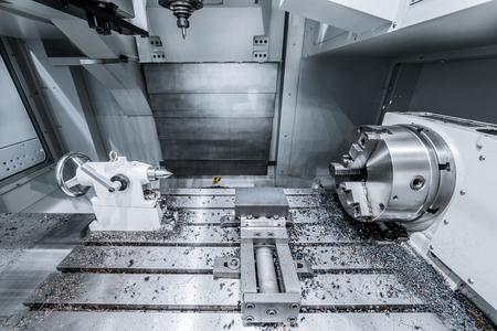 the workpiece: Work space of modern CNC milling machine.