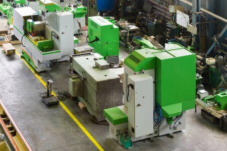 new metalworking machine in modern workshop Stock Photo