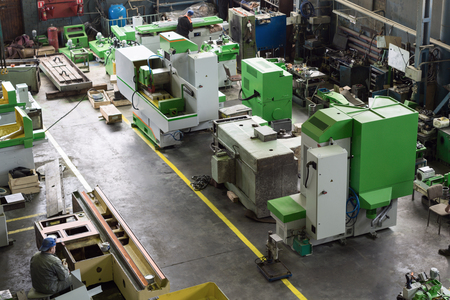 Assembly shop of the factory for the production of grinding machines.