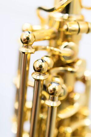 Shiny golden alto saxophone