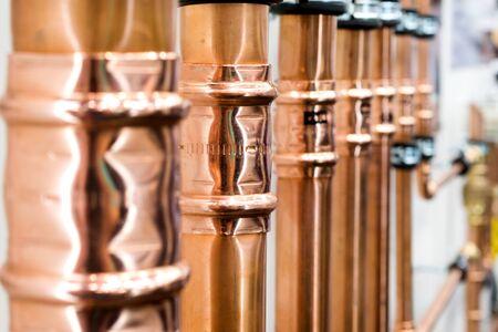 Brilliant new copper pipes.