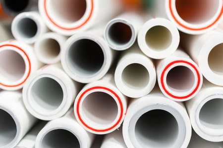 The ends of polypropylene and plastic pipes.