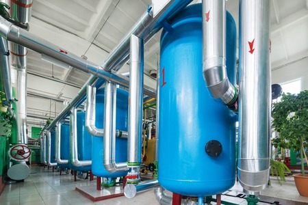 Water treatment system for boiler station.