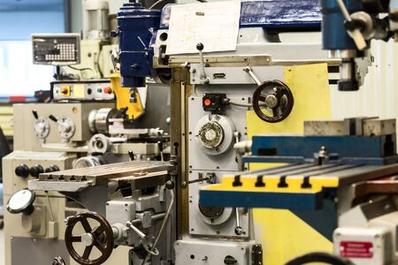 Lathes and vertical milling machines.