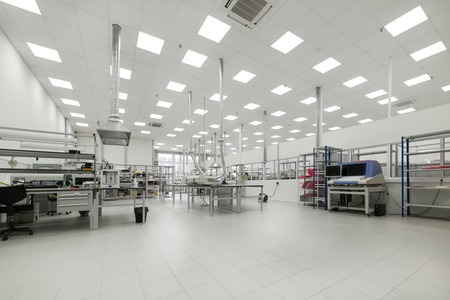 Factory for the manufacture of electronic printed circuit boards. Workshop surface mounting and pre-assembly.