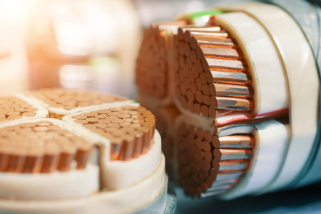Power electric copper cables.