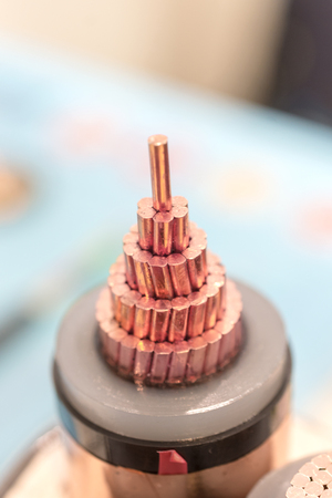 Cross section of high-voltage cable.