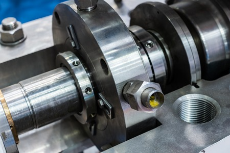 Fragment of the sealing system of the industrial pump.