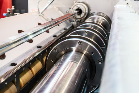 Steel shafts of the mechanism of sheet metal feeding.