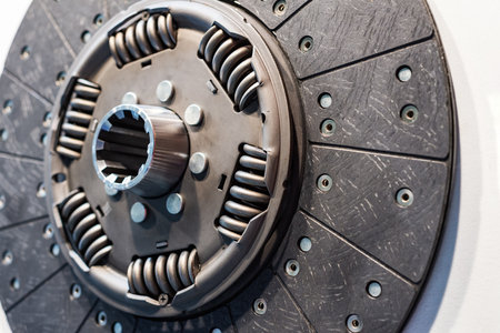 Clutch disc for a car engine. Stock Photo