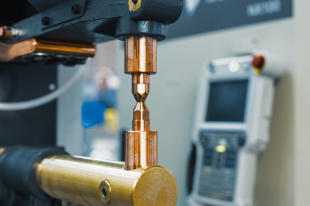 Copper electrodes, working part of the machine