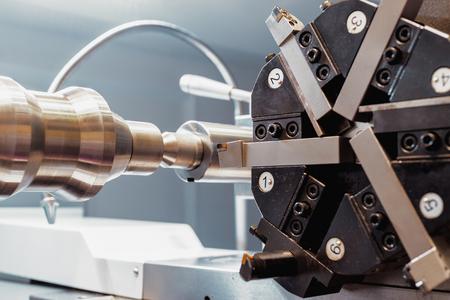 cnc lathe tool turret Stock Photo