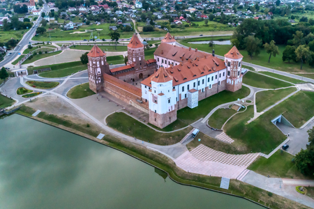 Belarus, Mir Castle. Ancient fortress, UNESCO heritage