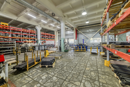 The interior of the metalworking shop. Modern industrial enterprise. Reklamní fotografie
