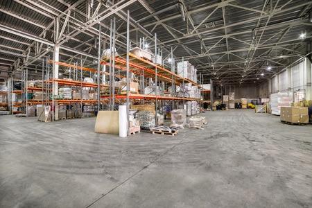 Large hangar warehouse industrial and logistics companies. Banco de Imagens