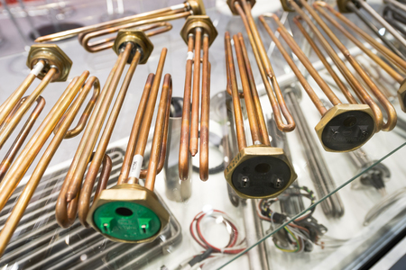A variety of tubular electric heaters.