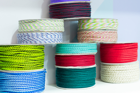 Coils with multi-colored cords.