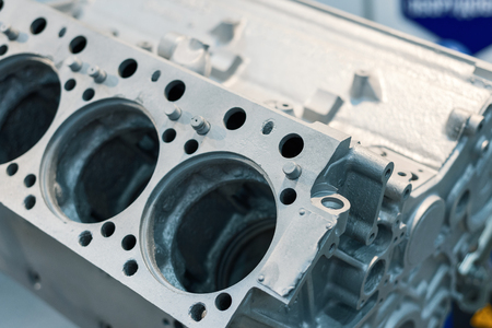 Gray metal cylinder block engine. The basic part of the internal combustion engine