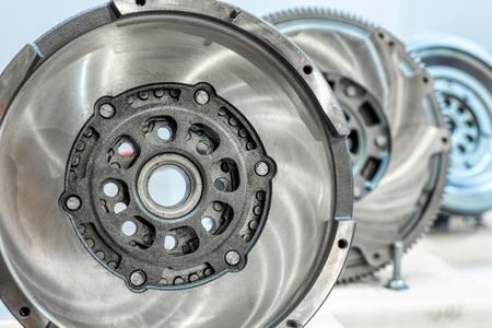 Flywheel car engine.