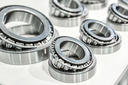 Many rolling bearings. Banque d'images