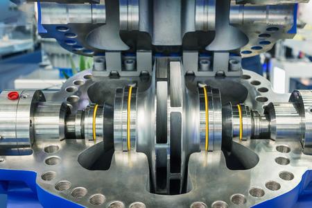 The inside of a powerful water pump. Фото со стока