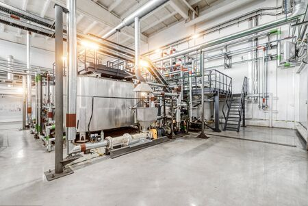 Production of chemical emulsions for mining. Banque d'images