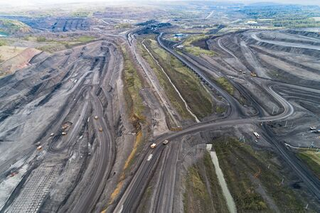 Coal mine, aerial view.
