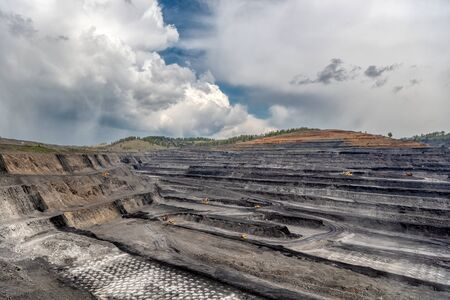 Large quarry for mining.