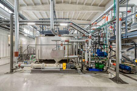 Production d'émulsions chimiques pour l'exploitation minière. Banque d'images