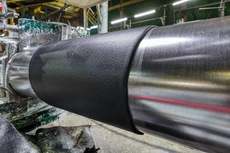 Factory for the production of conveyor belts. Foto de archivo