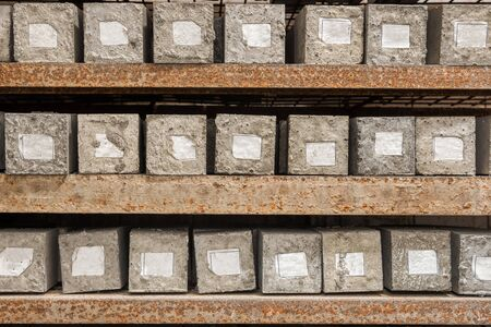 Concrete cubes. Samples of hardened concrete for laboratory tests 写真素材