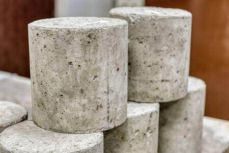Concrete cylinders. Samples of hardened concrete for laboratory tests. Standard-Bild