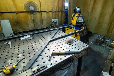 Jobs welders manual welding. Welding tables and various equipment