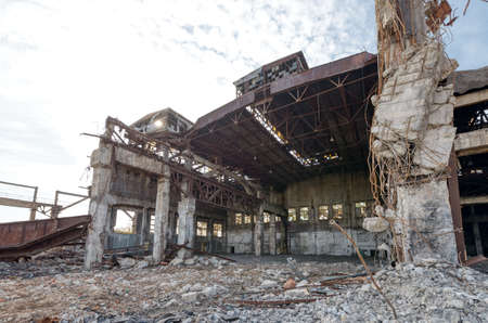 Old abandoned factory building.