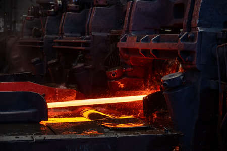 The process of rolling hot rolled steel in a rolling mill