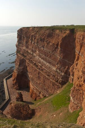 The red cliffs on Helgoland Stock Photo - 12198633