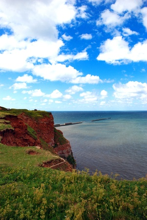 helgoland: The red cliffs of Helgoland Stock Photo