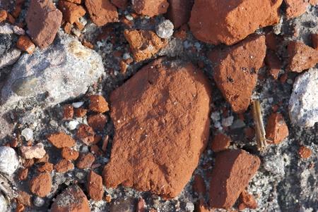 rubble: building rubble in the earth Stock Photo