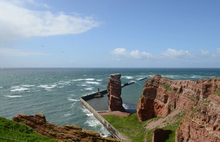 helgoland: Island of Helgoland with the landmark Anna Stock Photo