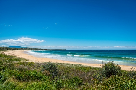 western australia: Sandy beach Stock Photo